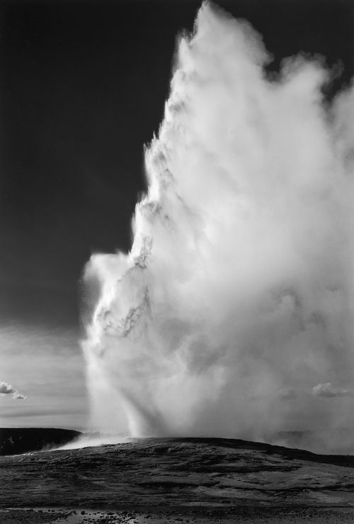 ANSEL ADAMS - OLD FATHFUL GEYSER